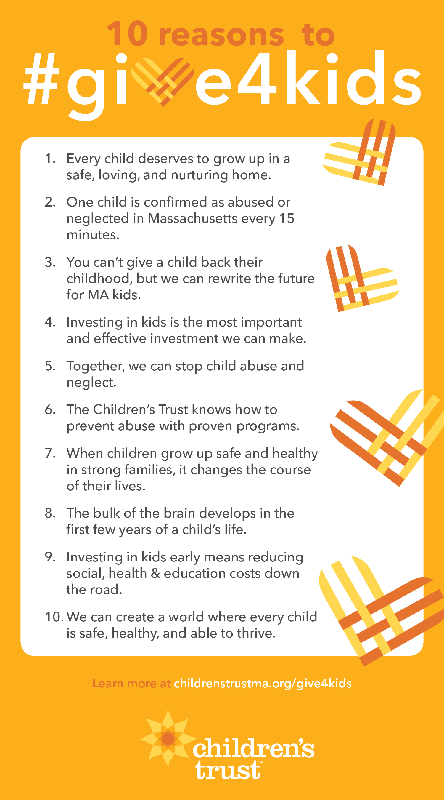10 reasons to #give4kids