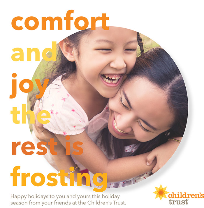 comfort and joy. the rest is frosting.