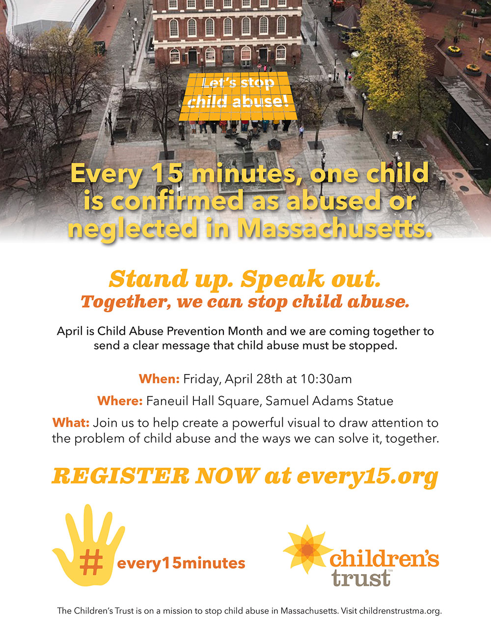 #every15minutes rally flyer