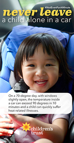 on a 70 degree day temps can quickly exceed 90 degrees with open windows